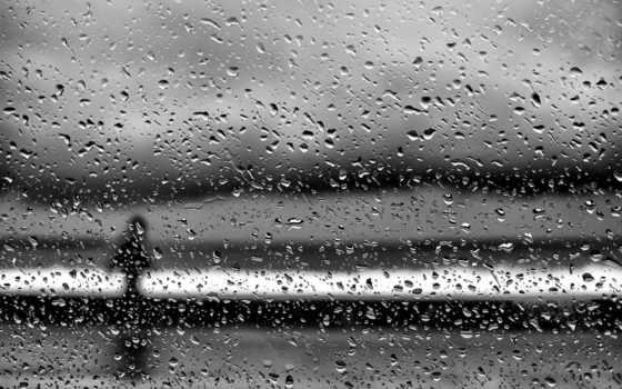 очарование, макро, дождь, капли, женщина, glass, drops, силуэт,