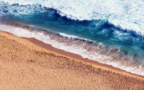 , пенка, поре, пляж, песок, волны, море,
