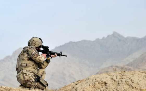 винтовка, солдат, армия, black, джин, трюм, shoot, оружие, военный, канадский, assault