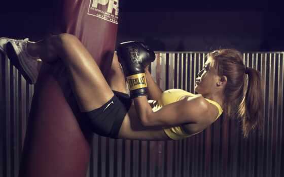 девушка, boxing, перчатка, груша, бонус, спорт, sporty, фитнес, поза, битва