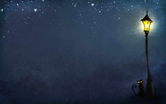 фонарь, ночь