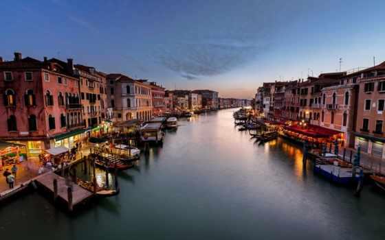 канал, венеция, гранд