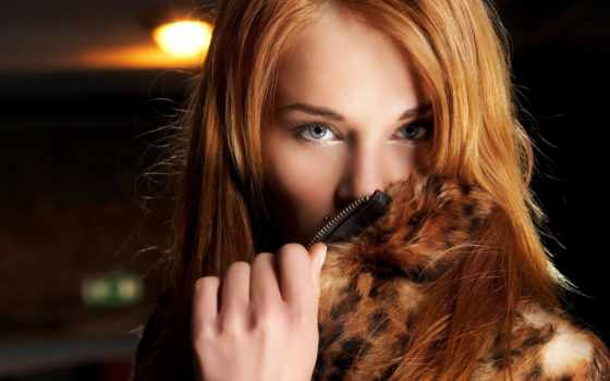 рыжая, девушка, взгляд Фон № 60537 разрешение 1920x1200