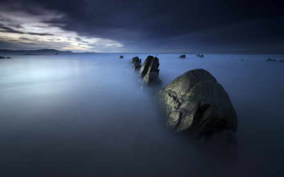 rocks, you, море, misty, widescreen, looking, resolution,