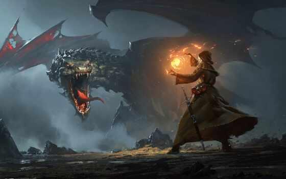 дракон, fantasy, пещера, остров, art, retweet, автор