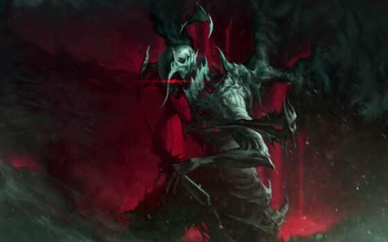 monster, art, воин, dark, доспех