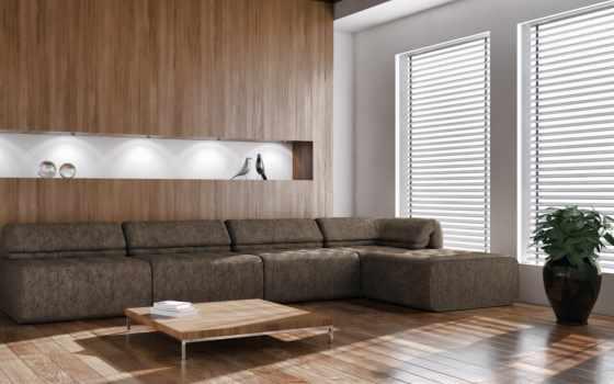 диван, окно