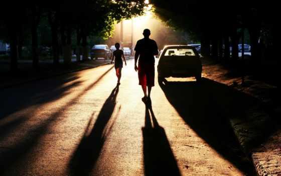 город, люди, улица, автомобили, тени, setting, совершенн, фото, дорога, town,