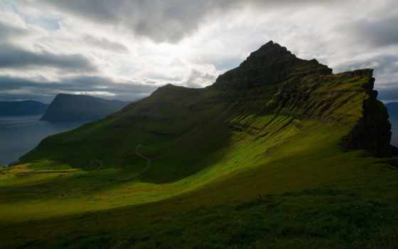 фарерские, острова, дании, kingdom, природа, sadalur, ocean,