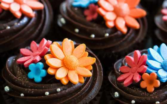 candy, cvety, десерт, chocolate, торт, мороженое, decoration, еда, разное,