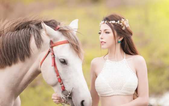 девушка, лошадь, лошадью, kumar, kya, морда, азиатская, mujhse, sanu,