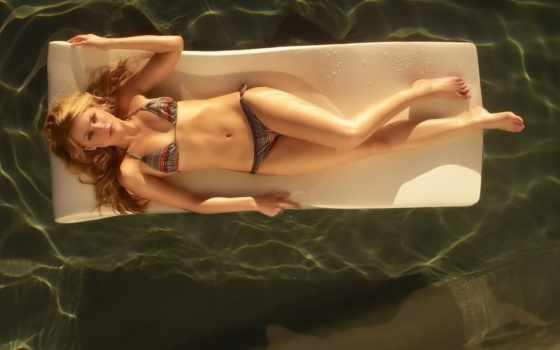 девушка, купальник, бассейн