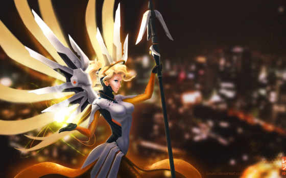 overwatch, mercy, desktop, телефон, mobile,