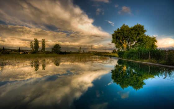 озеро, trees, природа, summer, горы, весна, страница, картинку,