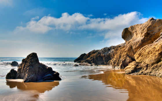 malibu, california, пляж,