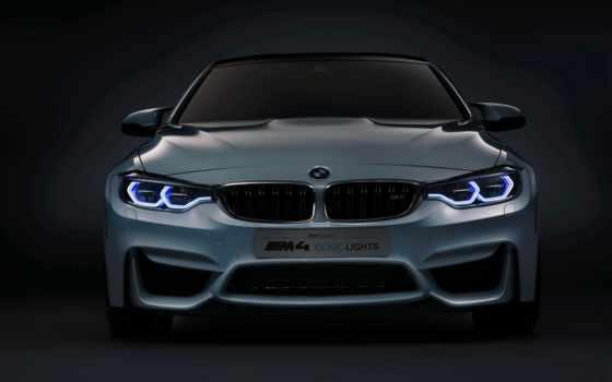 bmw, фары, concept, oled, огни, iconic, освещения, coupe, машин, показать,