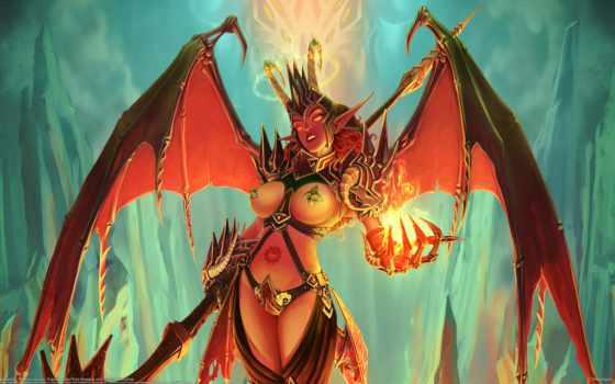 крылья, демон, грудь