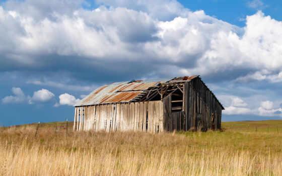 сарай, старый, landscape, осень, washington, тег, abandoned,