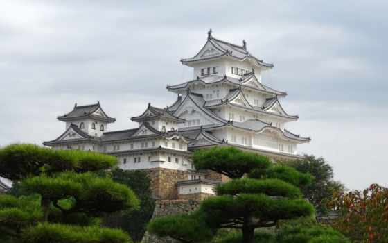 castle, himeji, химэдзи, замки, япония, японии,