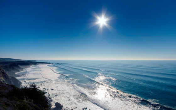 море, пляж, sun, закат, ocean, rays, administrator, берег, волна, главная,