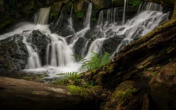 модель, водопад