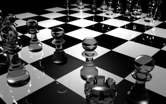 chess, доска, фигуры, glass, шахматная, стеклянные, природа,