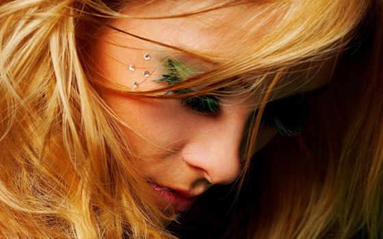 девушка, devushki, макияж, банка, волосы, яркий,