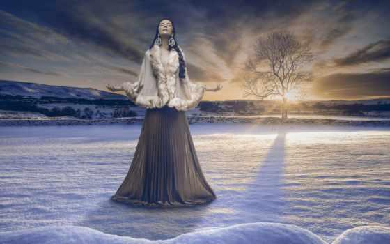 снег, девушка, winter, медведь, silva, мольба, восторг, свобода, devushki,