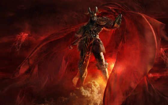 демон, often, сильных, упоминаемых, адских, властителей, есть, информация, самых, one, horned,