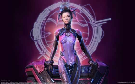девушка, красивые, cyberpunk, futuristic, имеет, android, картинка, chan, качественные,