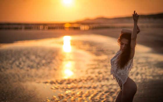 отражение, девушка, neriah, erotica, davis, море, закат, дэви, эротический