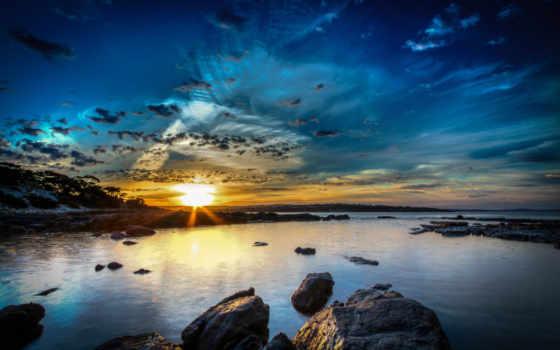 природа, небо, реки