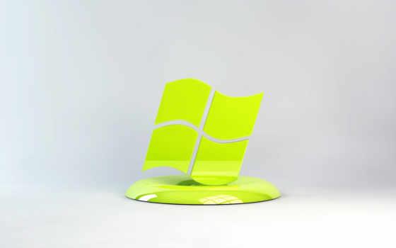 Windows лого салатовое на подставке
