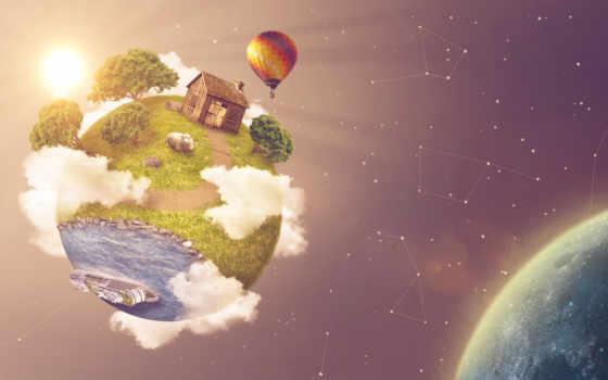 зелёный, planet, facebook