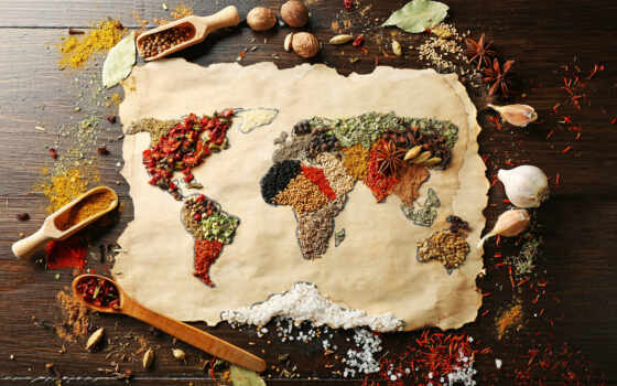 мира, map, перец, материки, anise, специи, крупная, сол, мускатные, картинка,