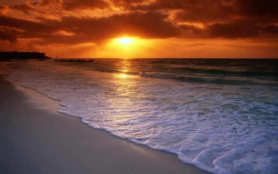 вечер, хороший, love, пляж, ocean, pictures, картинка, графика, side,
