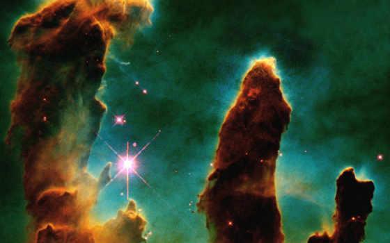 планеты, другие, звезды, science, туманность, созвездия, туманности, орла, творения, столпы,