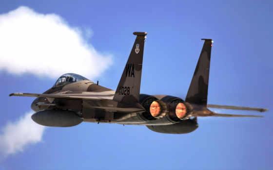 самолёт, небо, истребитель, двигатель, картинка, airplane, air, force, eagle,