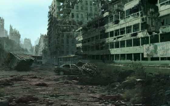 постапокалипсис, город, разруха, разруха,