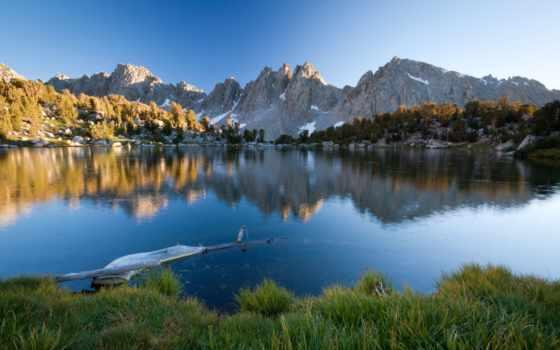 природа, landscape, горы, пейзажи -, озеро, берег, природы, трава, страница, горные, цветы,