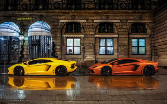 lamborghini, yellow, aventador, cars, car, оранжевый, vehicle, фон, best,