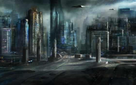 город, art, будущее Фон № 57606 разрешение 2560x1600