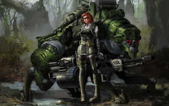 фэнтези, воители, robot