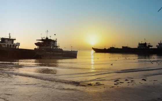 море, закат, iran, залив, корабль, корабли, photography, region, landscape, bandar,