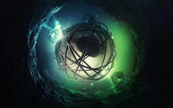 сфера, мяч, свет, cosmos, фотообои, коллекция, туннель, графика, лучшая, загружено,