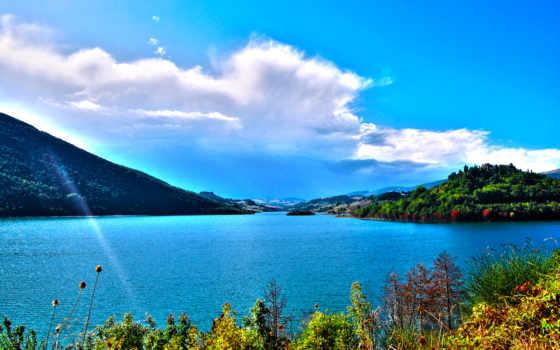 озеро, леса, окружении, alcatel, разрешениях, растительность, гор, разных, от, коллекция,