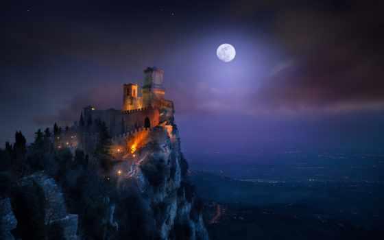 небо, ночь, красивый, star