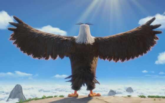 angry, птица, movie, орлан, чудеса, гифка, viking, animated
