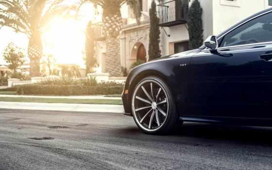 audi, vossen, wheels, tuning, front, tapete, sun, www, становится, выбора, шин, автомобиля, правила, зимних, car,