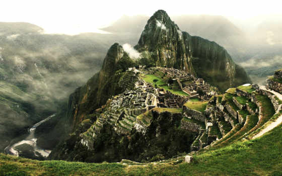 machu, пикчу, peru, город, инков, картинка, oblaka,